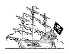 Nave e barca da colorare 140
