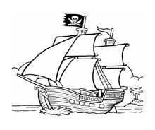Nave e barca da colorare 141