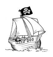 Nave e barca da colorare 142