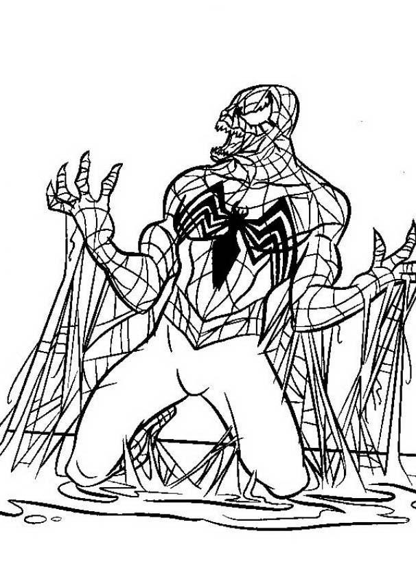 Venom da colorare 2