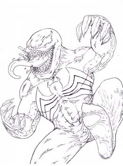 Venom da colorare 4