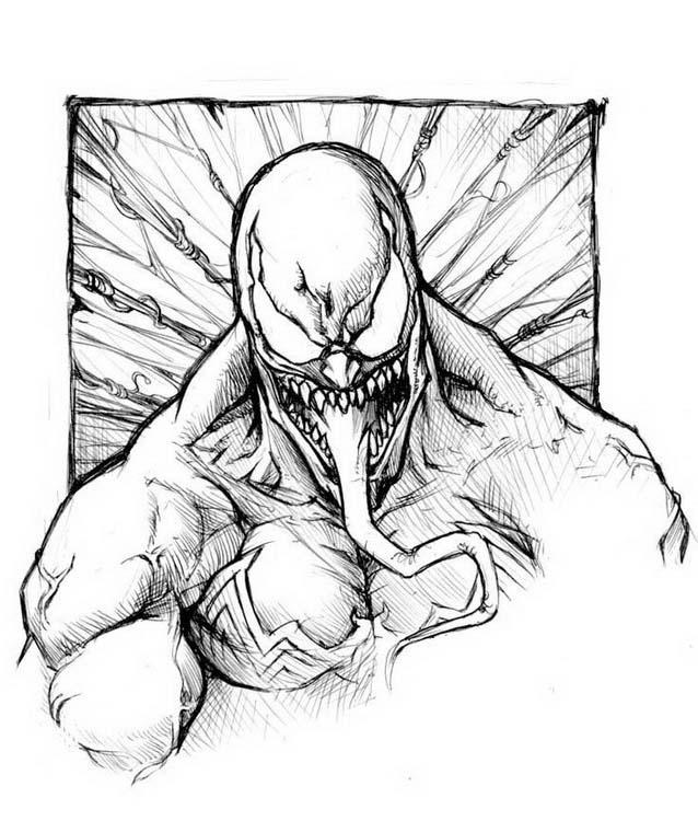 Venom da colorare 9