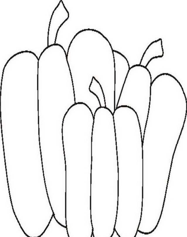 Verdura da colorare 121