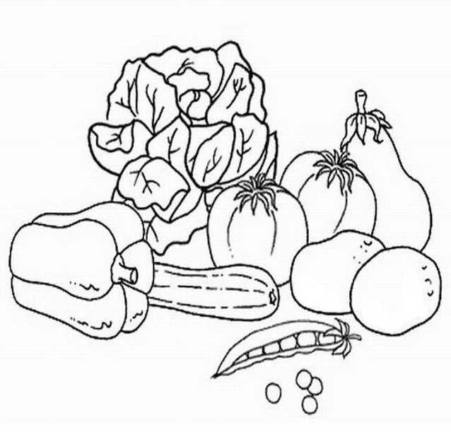 Verdura da colorare 123