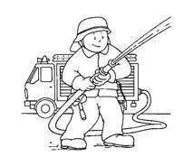 Pompiere da colorare 39
