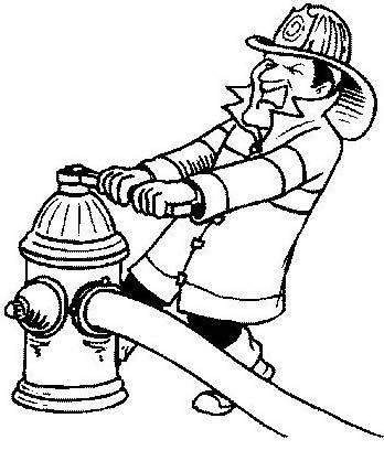 Pompiere da colorare 41