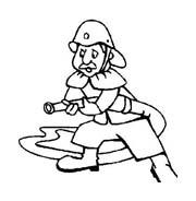 Pompiere da colorare 52
