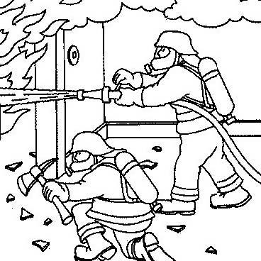 Pompiere da colorare 53