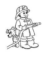 Pompiere da colorare 54