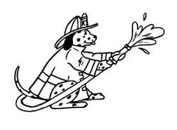 Pompiere da colorare 57