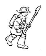 Pompiere da colorare 62
