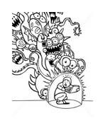 Virus attack da colorare 6