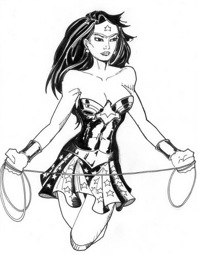 Wonder woman da colorare 43
