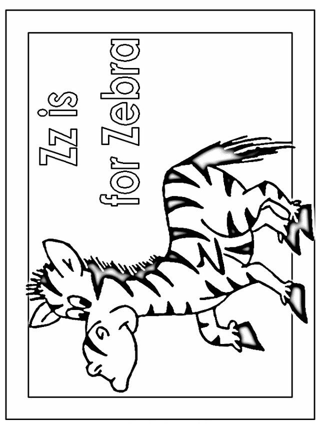Zebra da colorare 14