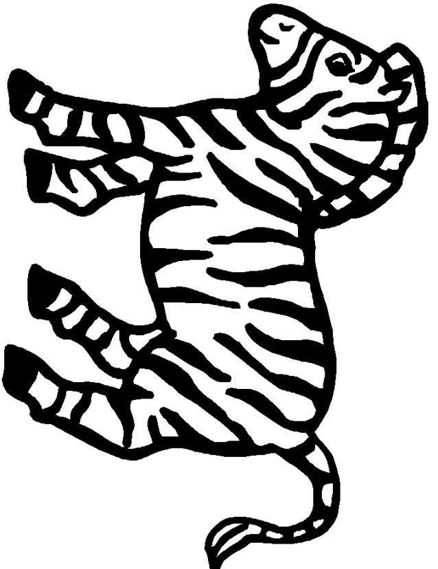 Zebra da colorare 16