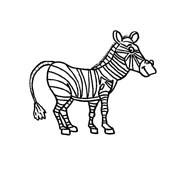 Zebra da colorare 27
