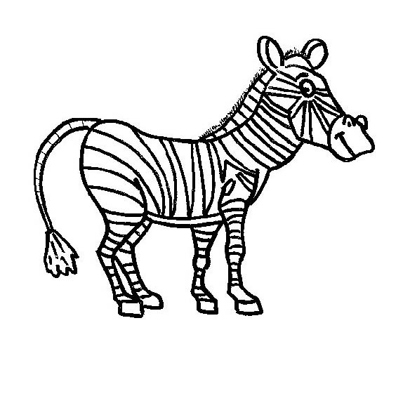 Zebra da colorare 27