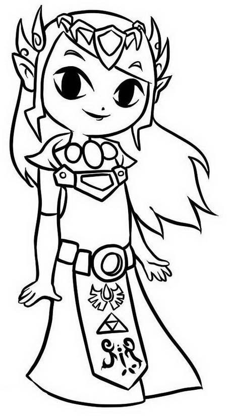 Zelda da colorare 10