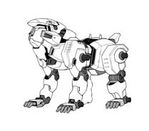 Zoids da colorare 4