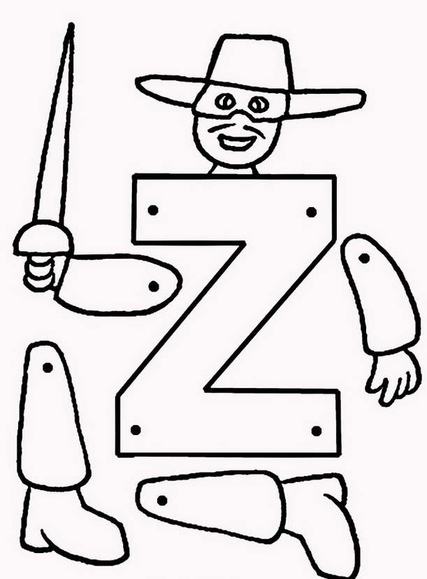 Zorro da colorare