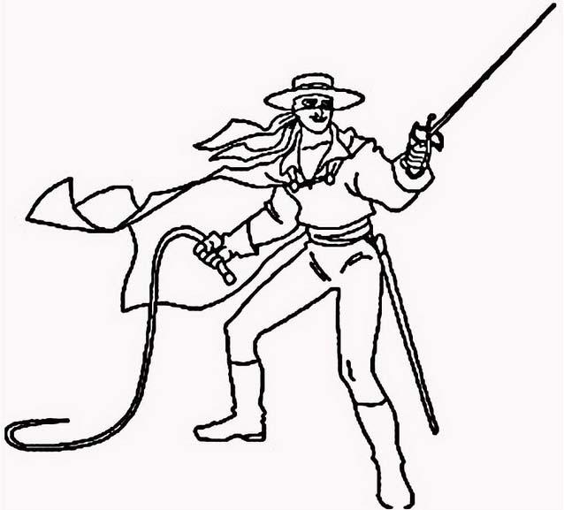 Zorro da colorare 4
