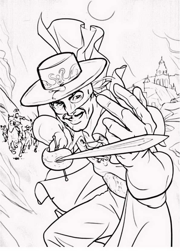 Zorro da colorare 5