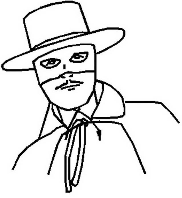 Zorro da colorare 6