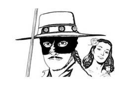 Zorro da colorare 10